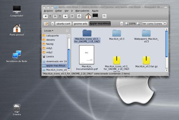 Icones temáticos do Mac OS X.