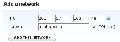 Adicionando seu micro/rede ao OpenDNS, passo 2
