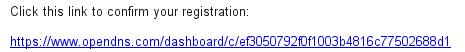 mensagem de confirmação por email.
