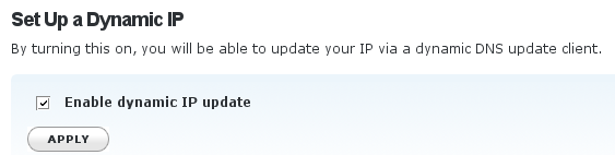 Enable dynamic IP update