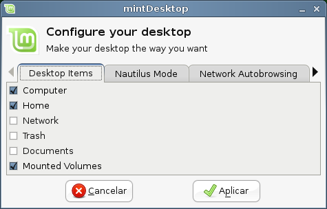 Aplicativo MintDesktop