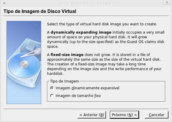 vbox-criar-disco-dinamicamente-expansivel