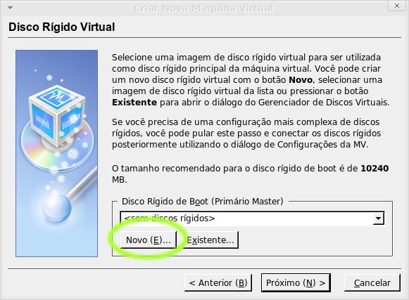Criando um disco virtual