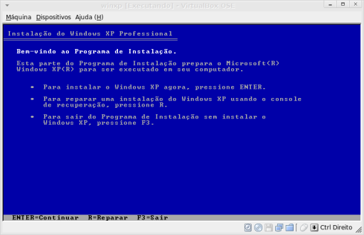 Instalando o Windows