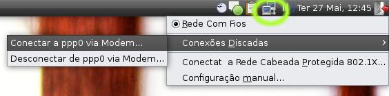 Conectar e desconectar pelo modem