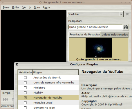 Ativando o plugin Youtube no Totem