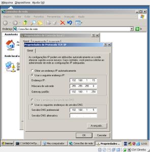 Configurando rede no Windows