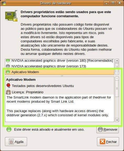 Suporte a winmodens compátiveis com smartlink